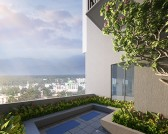 Podium level apartments are supplied with a 400-500sqft of private terrace.