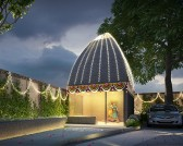 The serene grandeur of the Radha Krishna Temple along with the Tulip gardens will be designed by experts from Jaipur.